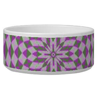 Purple Abstract Circle Pattern Pet Water Bowl