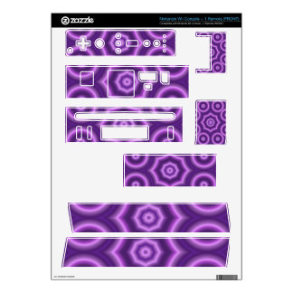 Purple Abstract circle pattern Wii Decal