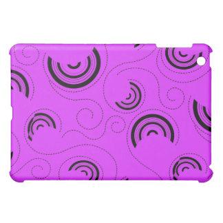 Purple Abstract Circle Pern  iPad Mini Case
