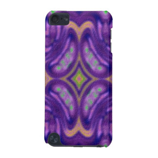 Purple abstract colored pattern iPod touch (5th generation) case