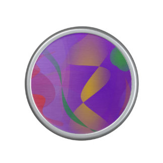 Purple Abstract Composition Bluetooth Speaker
