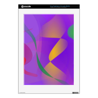 Purple Abstract Composition Decal For PS3