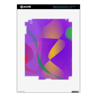 Purple Abstract Composition iPad 3 Skin
