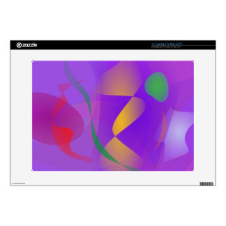 Purple Abstract Composition Laptop Decals