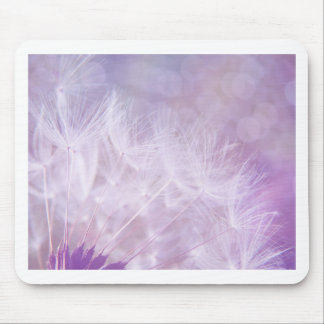 Purple Abstract Dandelion Photo Mouse Pad