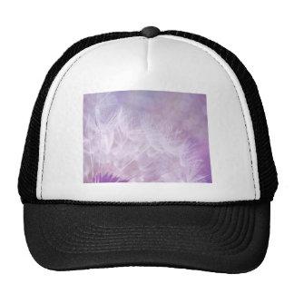 Purple Abstract Dandelion Photo Trucker Hat