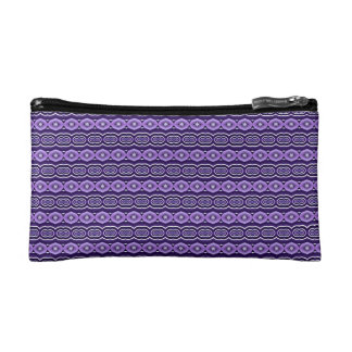 Purple Abstract Decorative Stripes Cosmetic Bag