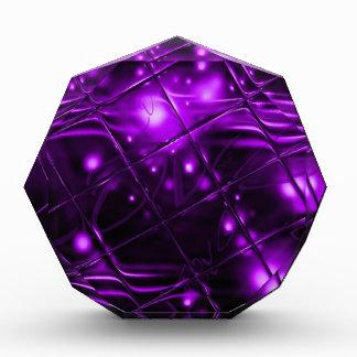 Purple Abstract Design Acrylic Award