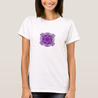 Purple Abstract Design T-Shirt