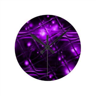 Purple Abstract Design Wall Clock