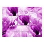 Purple-abstract designs postcard