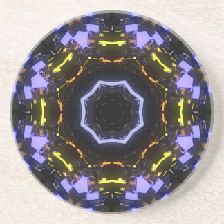 Purple abstract drink coaster