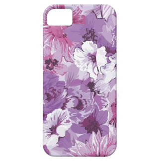 Purple Abstract Elegant Floral Design iPhone SE/5/5s Case