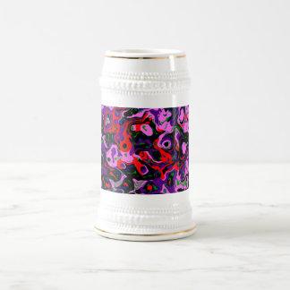 Purple Abstract Eyes Beer Stein
