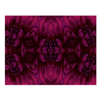 Purple Abstract Floral Postcard