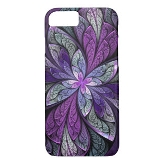 Purple Abstract Floral Stained Glass iPhone 7 Case