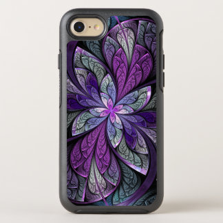Purple Abstract Floral Stained Glass La Chanteuse OtterBox Symmetry iPhone 8/7 Case