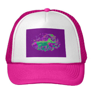 Purple Abstract Fox Hats