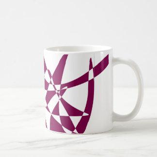 Purple Abstract Geometric Mug