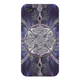 Purple Abstract Gothic i w/ Celtic Knots iPhone 4/4S Cases