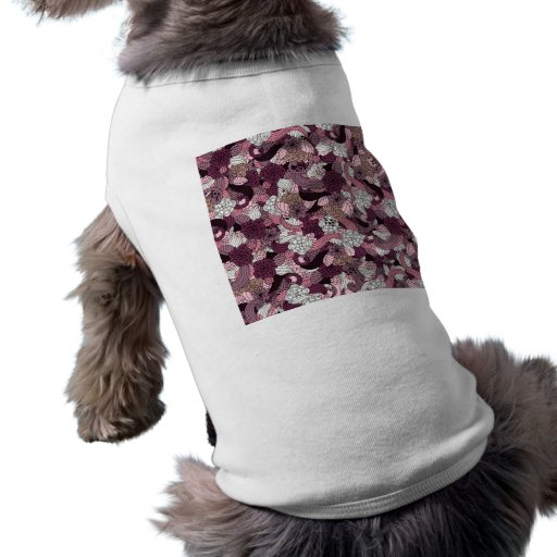 Purple abstract graphic design dog clothing