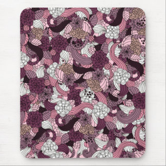 Purple abstract graphic design mouse pad