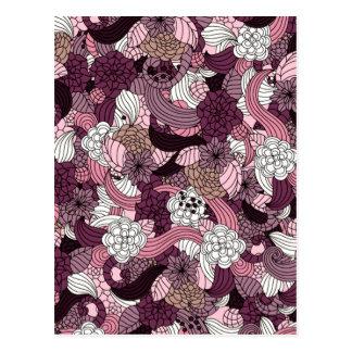 Purple abstract graphic design postcard