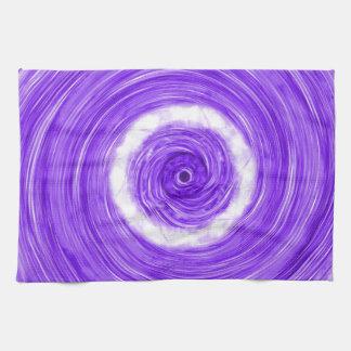 Purple Abstract Hand Towel