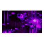 Purple Abstract Hearts Business Card