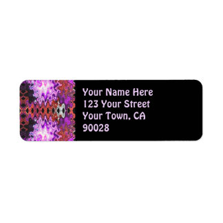 purple abstract label