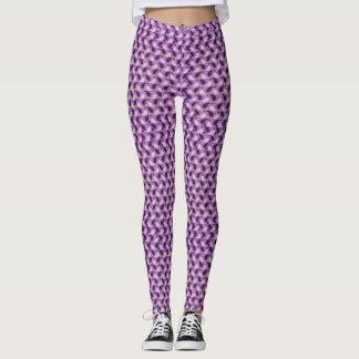 purple abstract legging