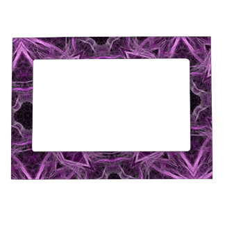 Purple abstract Magnetic Picture Frame