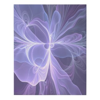 Purple Abstract Modern Fractal Art Faux Canvas Print