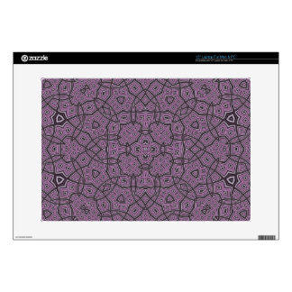 """Purple Abstract Pattern 15"""" Laptop Decals"""