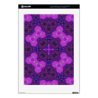 Purple Abstract Pattern Decal For The PS3
