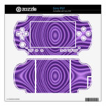 purple abstract pattern decals for the sony PSP