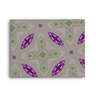 Purple abstract pattern envelope
