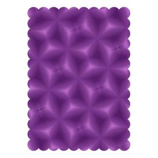 Purple abstract pattern invitations