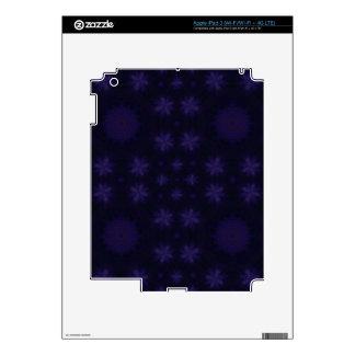 Purple abstract pattern iPad 3 decal