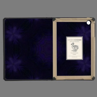 Purple abstract pattern iPad mini cover