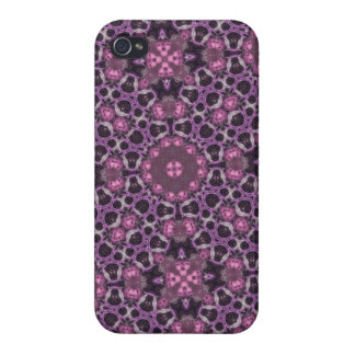 Purple Abstract PAttern Covers For iPhone 4