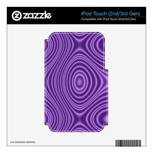 purple abstract pattern iPod touch 3G skins