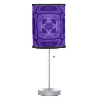 Purple abstract pattern desk lamp