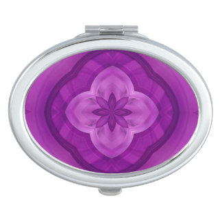Purple abstract pattern makeup mirror