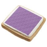 Purple abstract pattern square premium shortbread cookie
