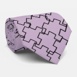 Purple Abstract Pattern Neck Tie