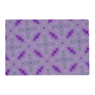 Purple Abstract Pattern Laminated Placemat