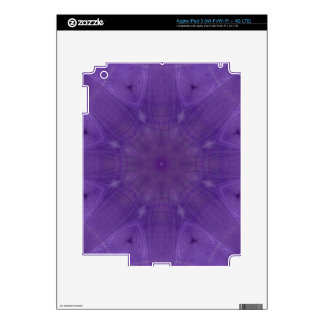 Purple abstract pattern of wood decals for iPad 3