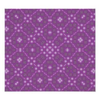 Purple Abstract Pattern Art Photo