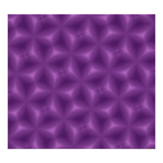Purple Abstract Pattern Print